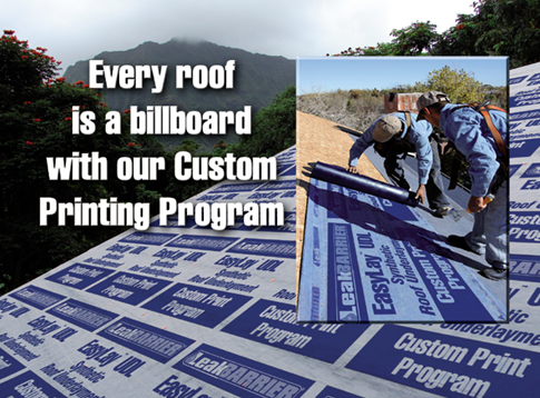 Tarco Announces Custom Printing Of LeakBarrier UDL Synthetic Roofing  Underlayment Products